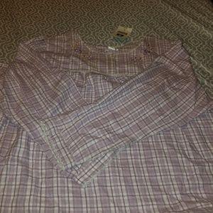 Long lavendar flannel gown NWT sz 3x